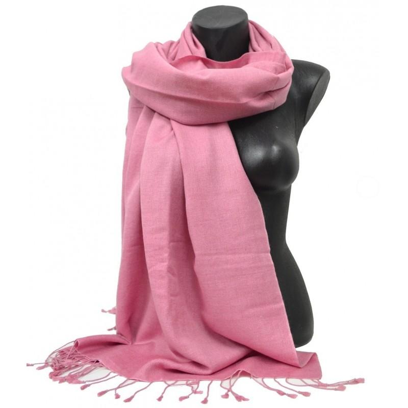Etole en soie et cachemire rose