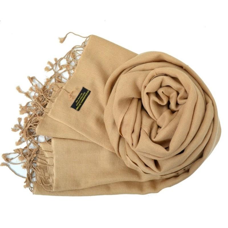 Etole en soie et cachemire beige