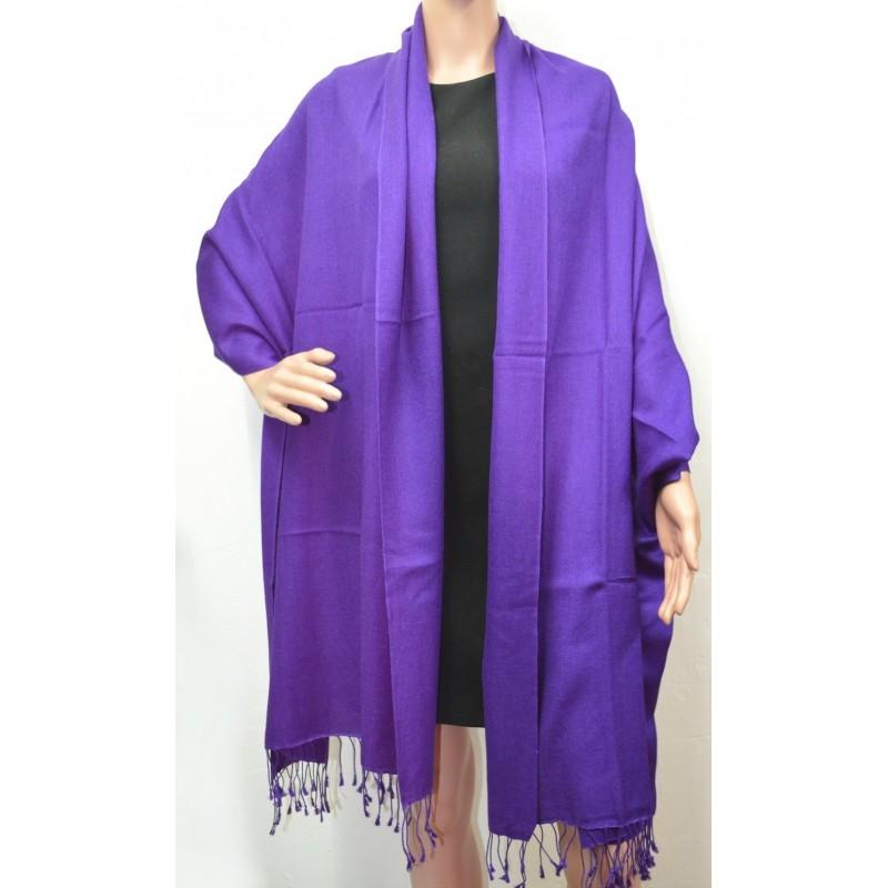 Etole en soie et cachemire violette