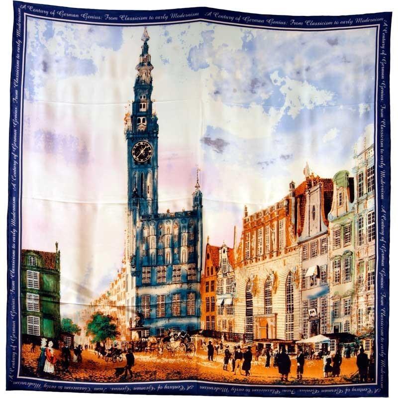 """Foulard carré motif tableau """"monument"""""""