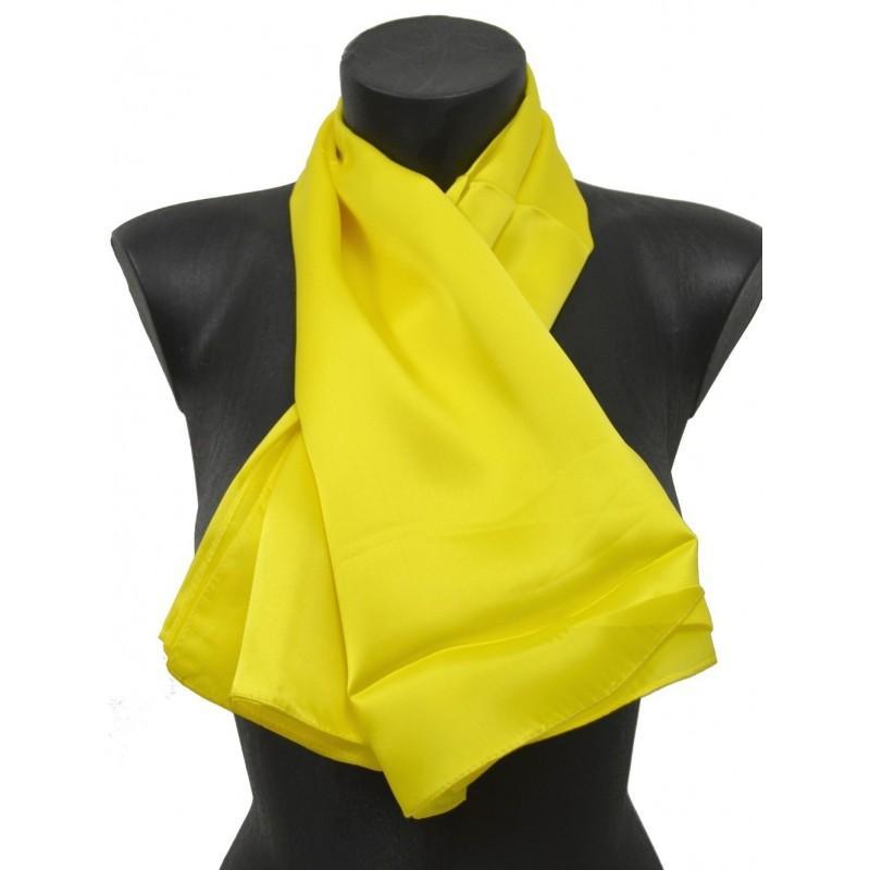 Carré en soie 90X90 jaune