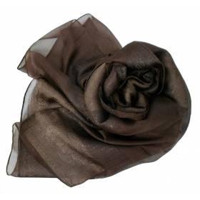 Foulard en soie marron