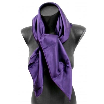 Carré en soie violet 80cm 16môme