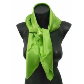 Carré en soie vert anis 80cm 16môme