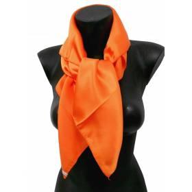Carré en soie orange 80cm 16môme