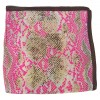 Petit carré en soie python rose