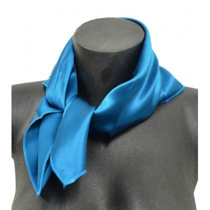 Petit carré en soie bleu d eau - qualité sup ab110ae1485