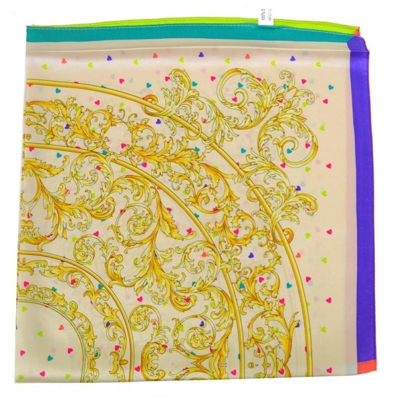 Petit carré en soie multicolore