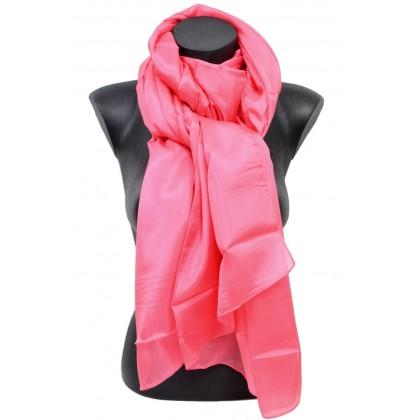 Etole en mousseline de soie rose