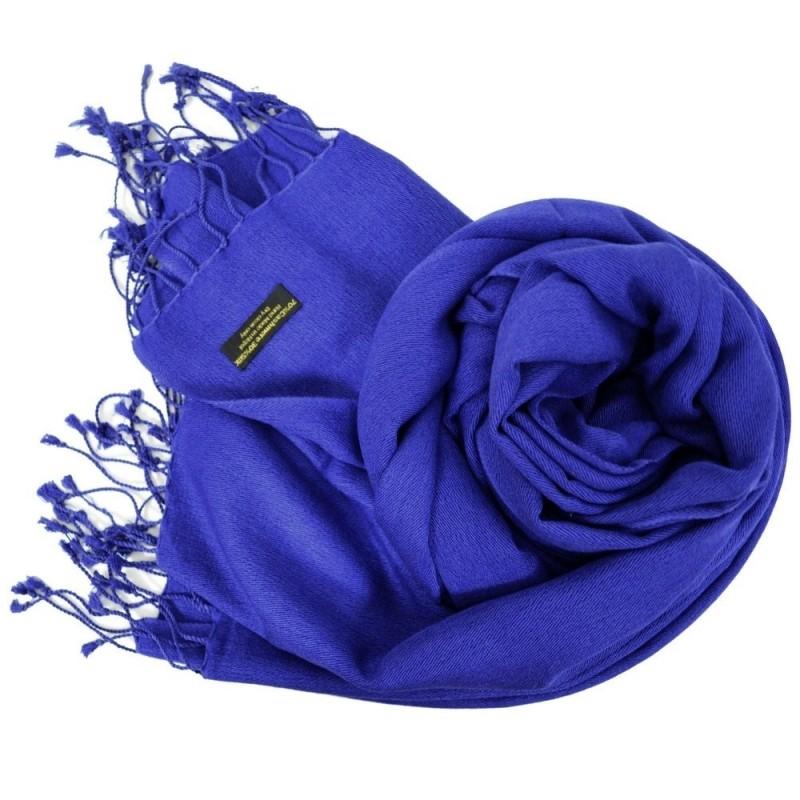 Etole en soie et cachemire bleu marine