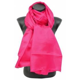Etole en mousseline de soie rose fuschia