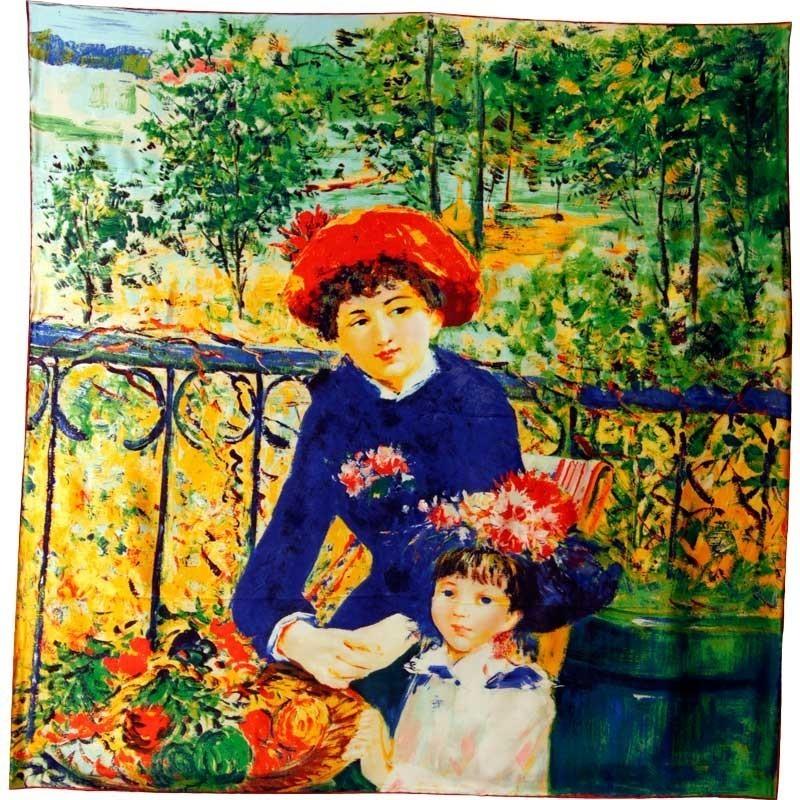 Carré de soie Les deux soeurs de Renoir