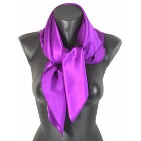 Carré en soie violet clair 80cm 16môme