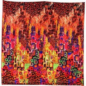 Foulard carré motif tableau abstrait