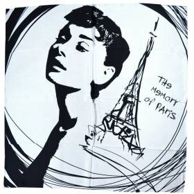 Foulard soie Memory of Paris