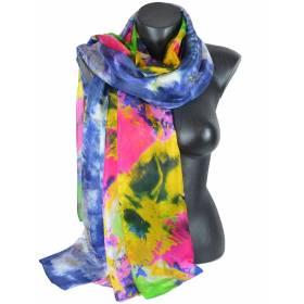 Etole en soie multicolore