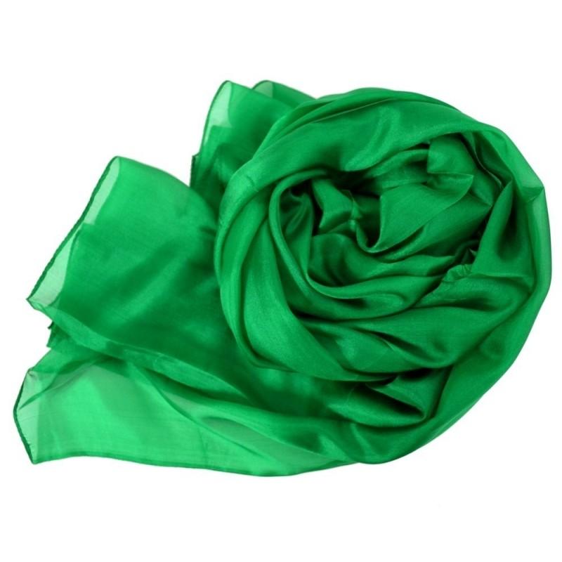 Etole en soie verte