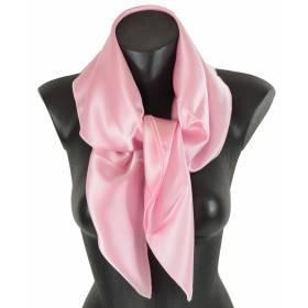 Carré en soie rose clair 80cm 16môme