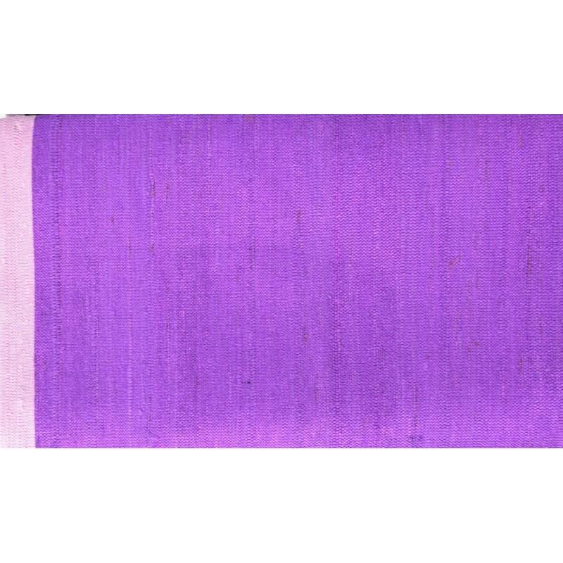 Echarpe en soie sauvage violet-mauve