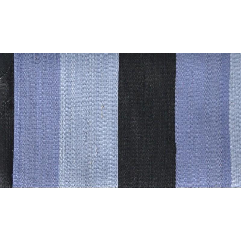 Echarpe en soie sauvage gris-noir