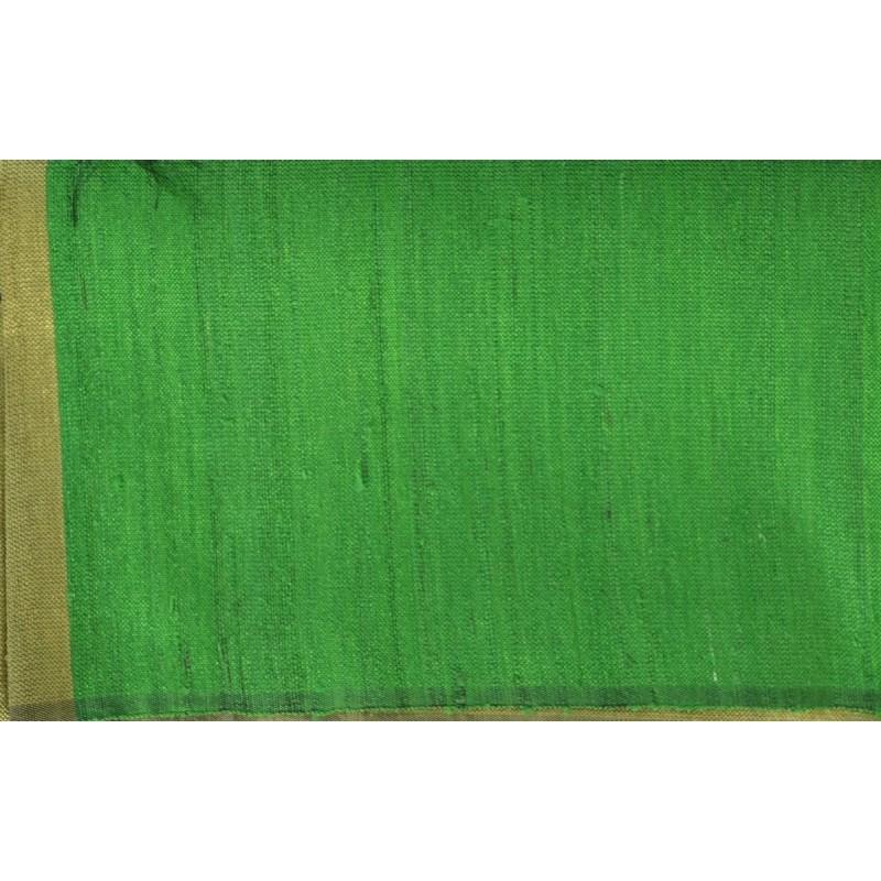 Echarpe en soie sauvage vert-kaki
