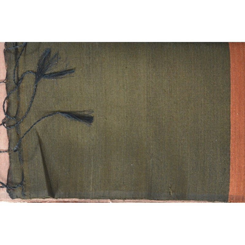 Echarpe en soie sauvage marron-rose