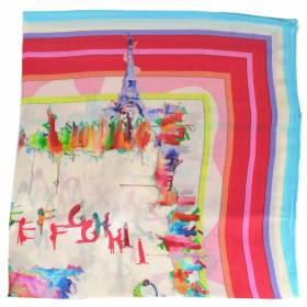 Petit carré en soie tour Eiffel- qual. sup