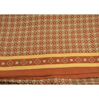 Foulard homme en soie marron