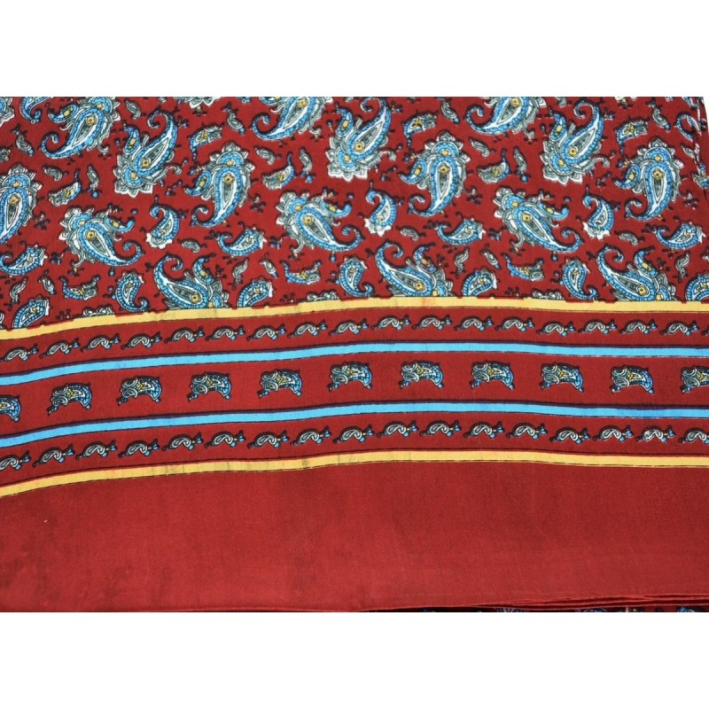 Foulard homme en soie bordeaux