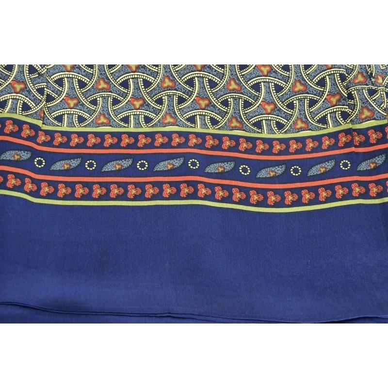 Foulard homme en soie roues bleu