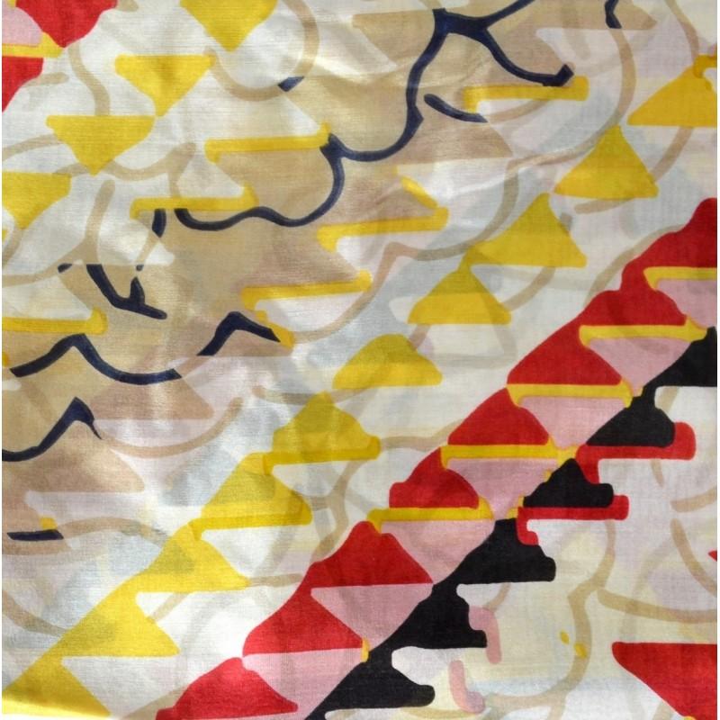 Cheche en soie incas blanc