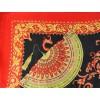 Carré 110 crêpe de Chine éventail rouge