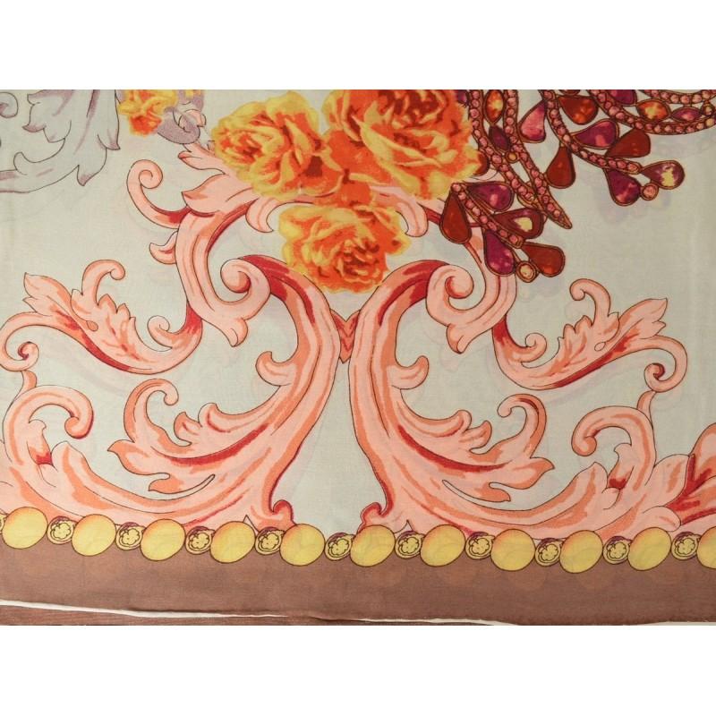 Carré 110 crêpe de Chine baroque beige