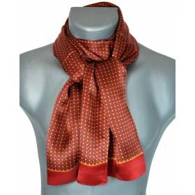 Foulard soie homme petits carrés rouge