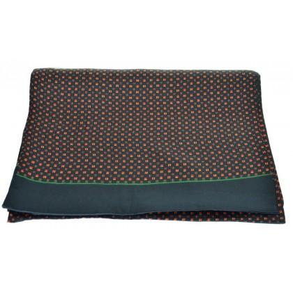 Foulard soie homme petits carrés noir