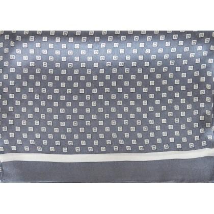 Foulard soie homme cubes gris