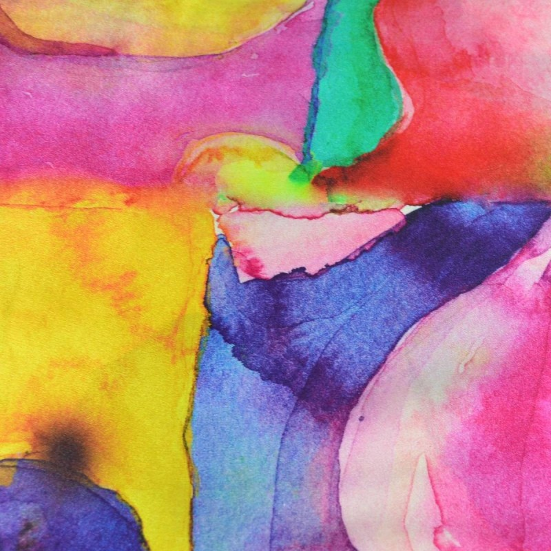 ed2f3239e1b7 Echarpe en soie multicolore abstrait
