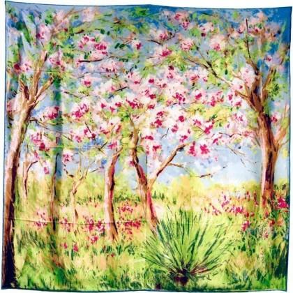 Carré de soie Printemps a Giverny Monet