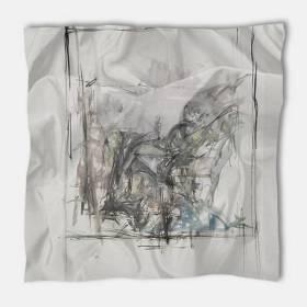 Carré de soie Giacometti, Paysage à Stampa