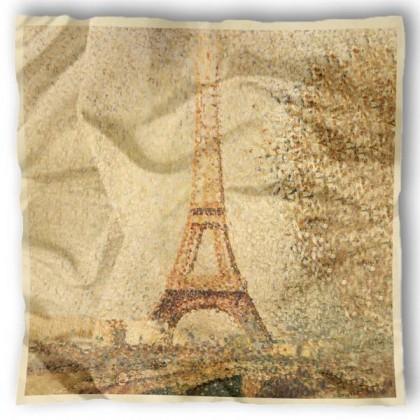 Carré de soie Seurat, Tour Eiffel