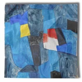 Carré de soie Poliakoff, Composition pour carnet enluminures