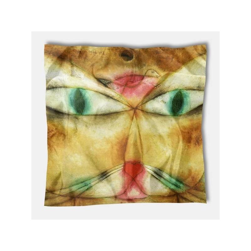 Carré de soie Klee, Cat and Bird 1928