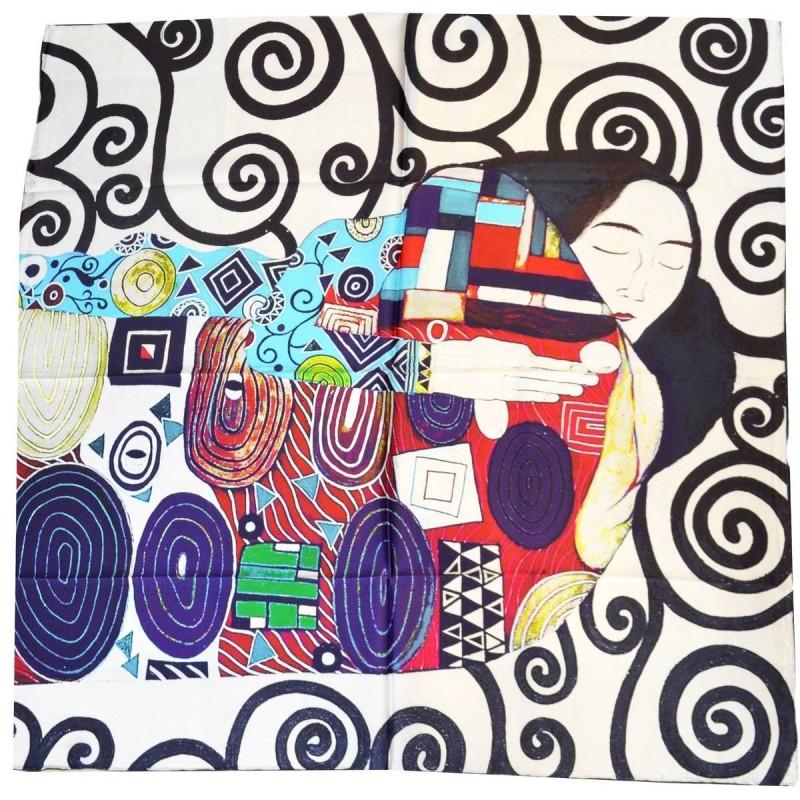Carré de soie l'arbre de vie de Klimt