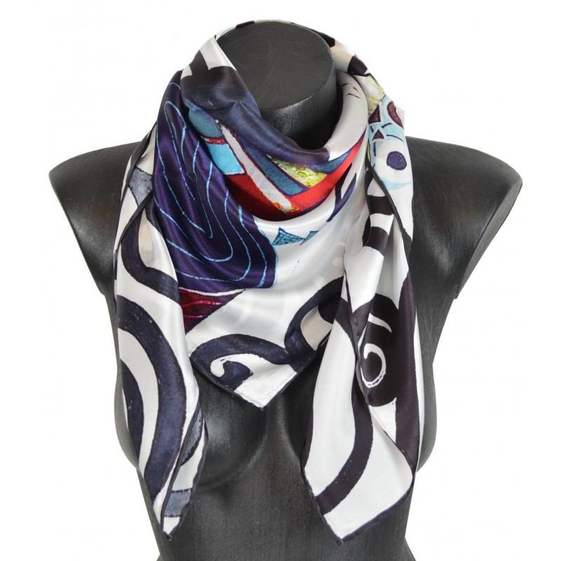 foulard soie l'arbre de vie de Klimt