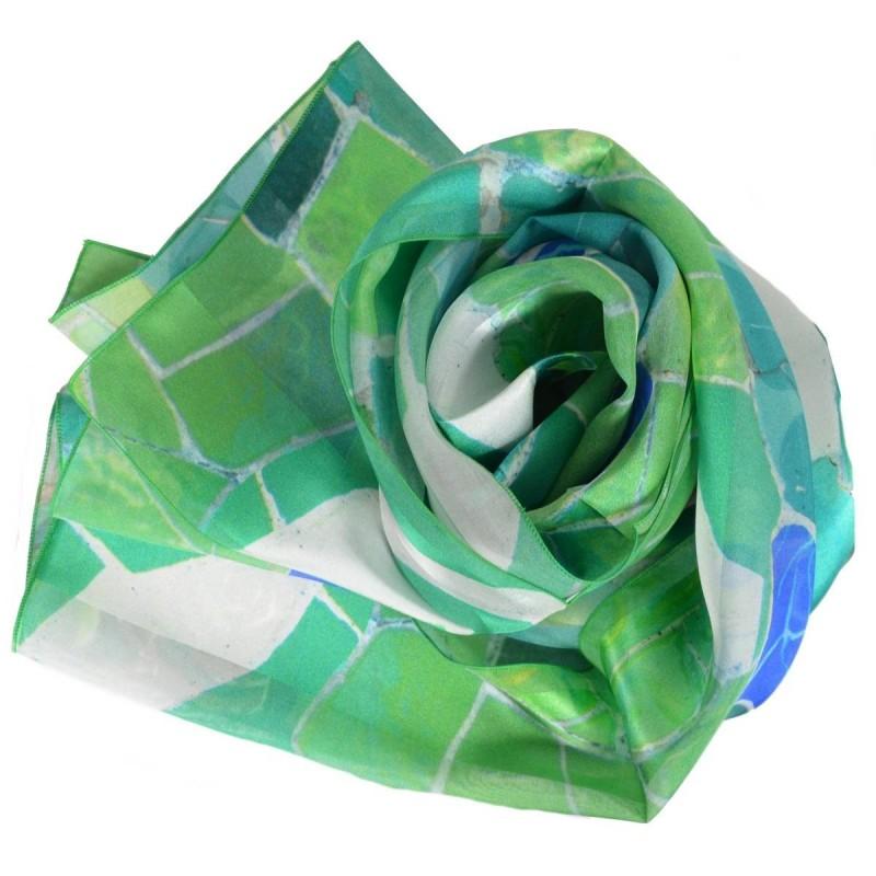 Echarpe en soie Gaudi - Roses