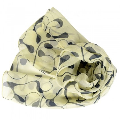 Echarpe en soie Dufy - Feuilles de Chêne