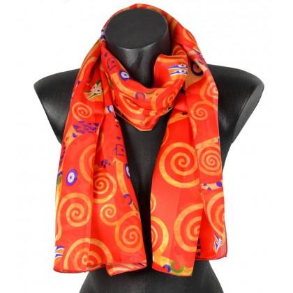 Echarpe en soie Klimt - Arbre de Vie