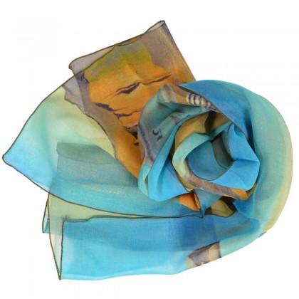 Echarpe en soie Dali - La persistance de la mémoire