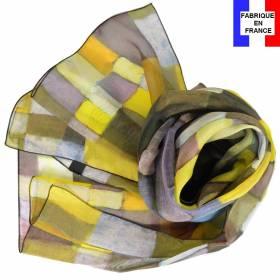 Echarpe en soie Klee - Architektur