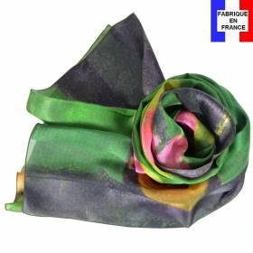 Echarpe en soie Gauguin - Scène Tahitienne